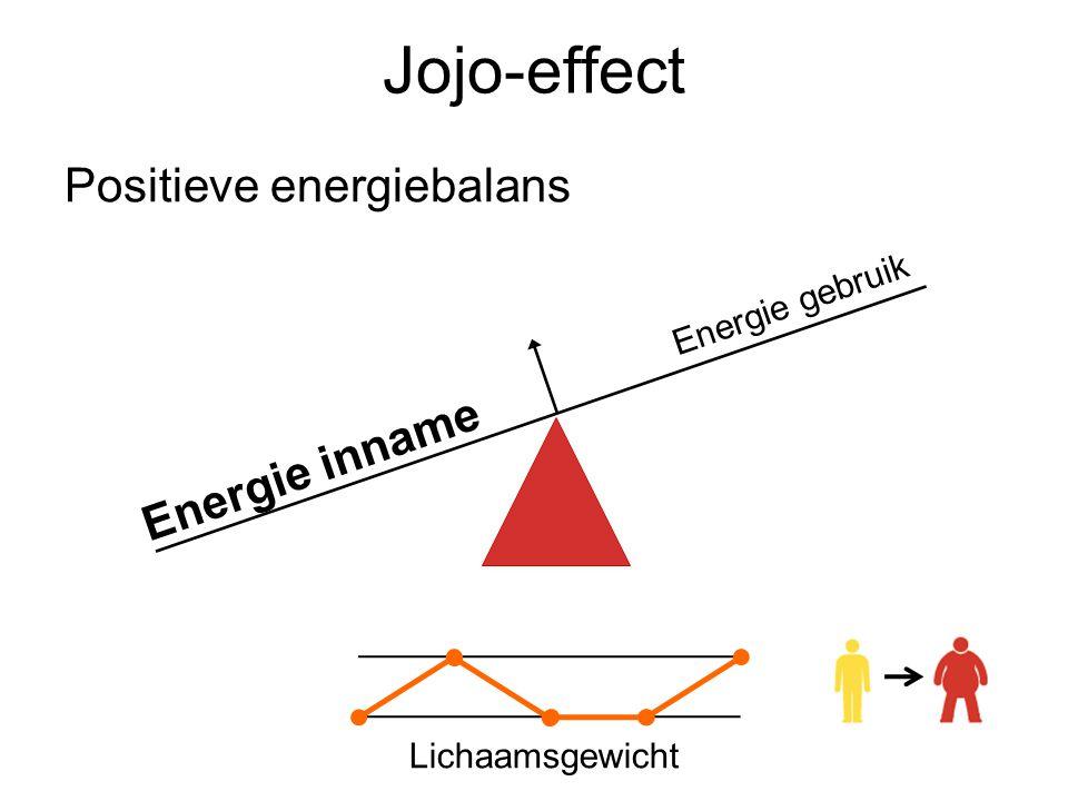 Jojo-effect Positieve energiebalans Energie inname Energie gebruik