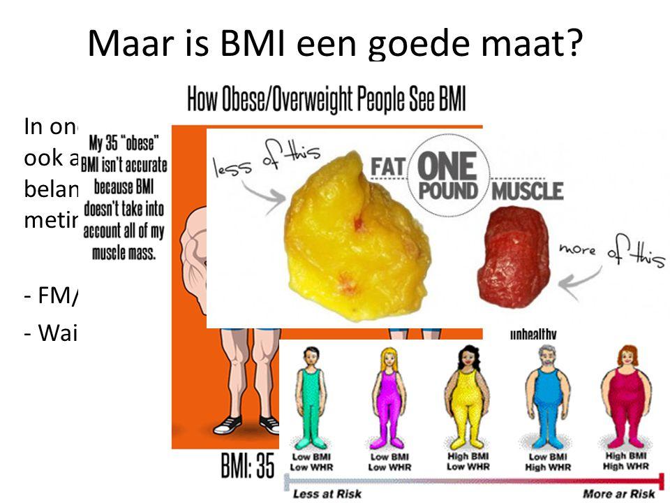 Maar is BMI een goede maat