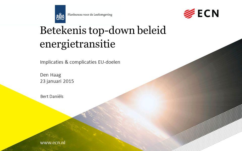 Betekenis top-down beleid energietransitie