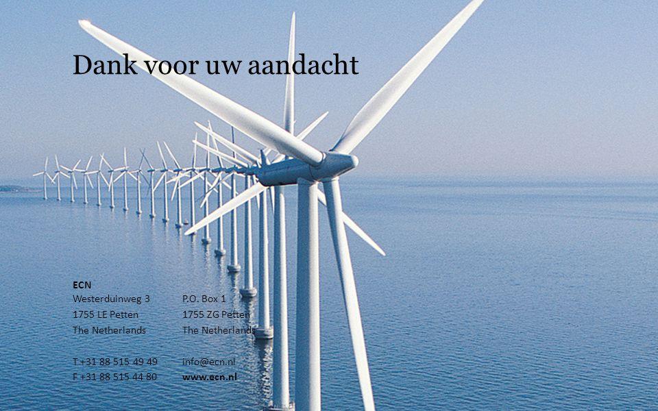 Dank voor uw aandacht ECN Westerduinweg 3 P.O. Box 1