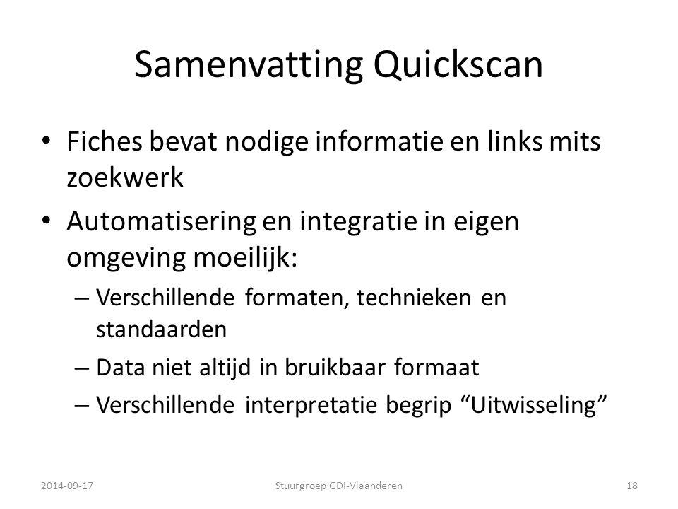 Samenvatting Quickscan