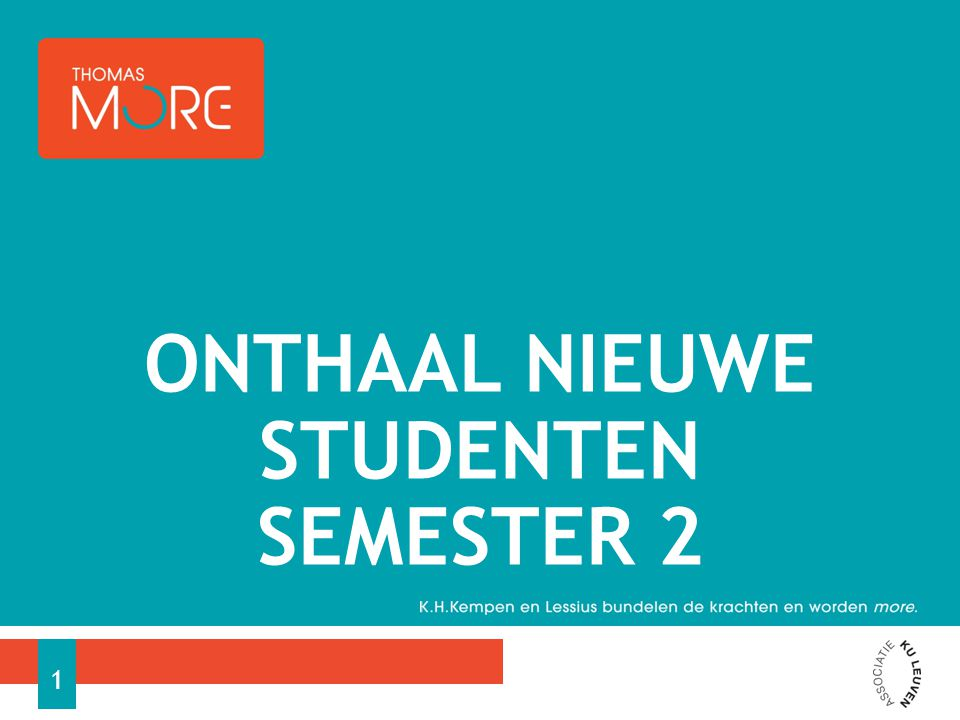 ONTHAAL NIEUWE STUDENTEN SEMESTER 2