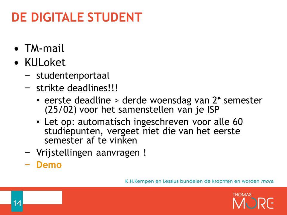 de digitale student TM-mail KULoket studentenportaal