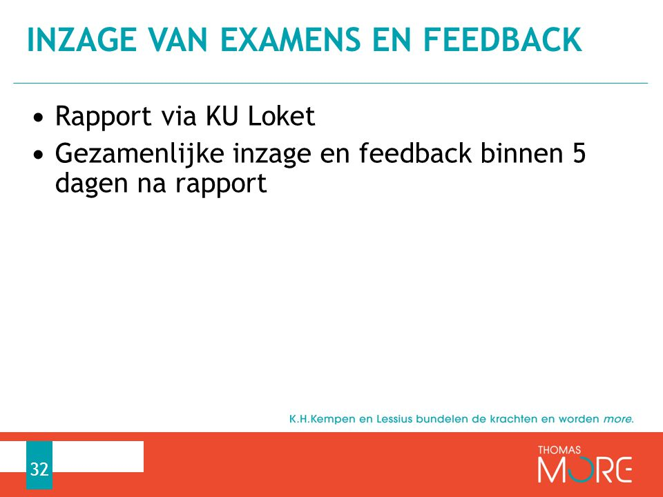 Inzage van examens en feedback