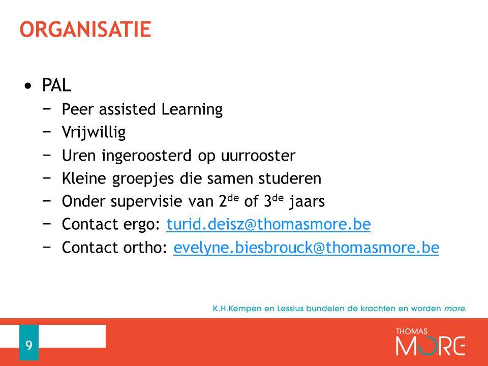ORGANISATIE PAL Peer assisted Learning Vrijwillig
