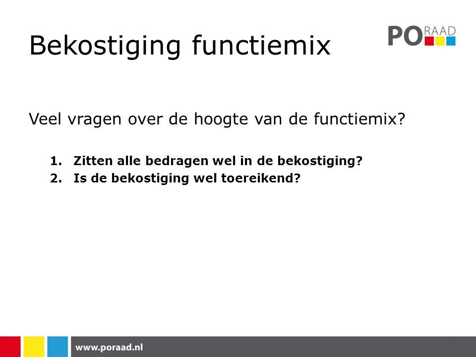 Bekostiging functiemix