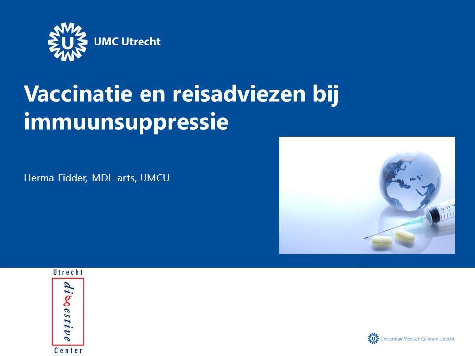 Vaccinatie en reisadviezen bij immuunsuppressie