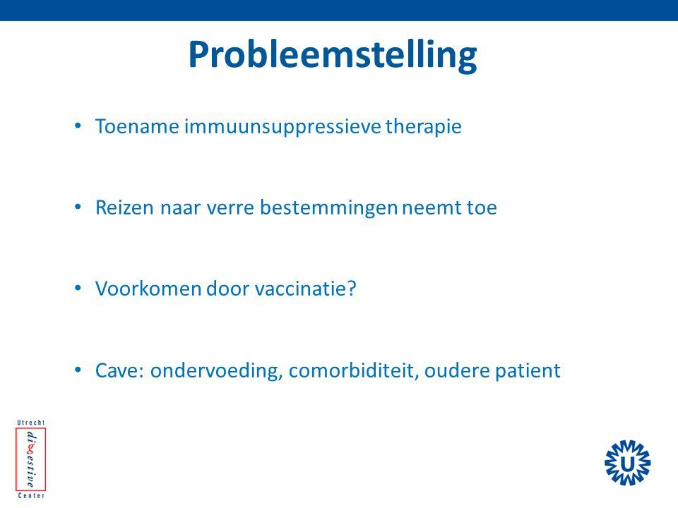 Probleemstelling Toename immuunsuppressieve therapie