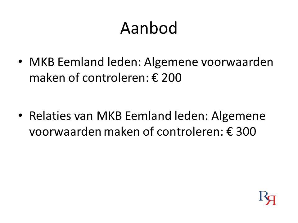 Aanbod MKB Eemland leden: Algemene voorwaarden maken of controleren: € 200.