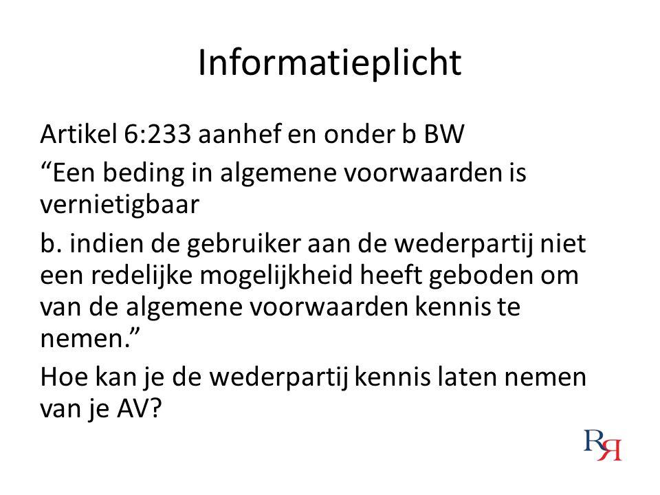 Informatieplicht
