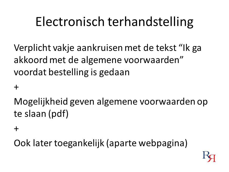 Electronisch terhandstelling
