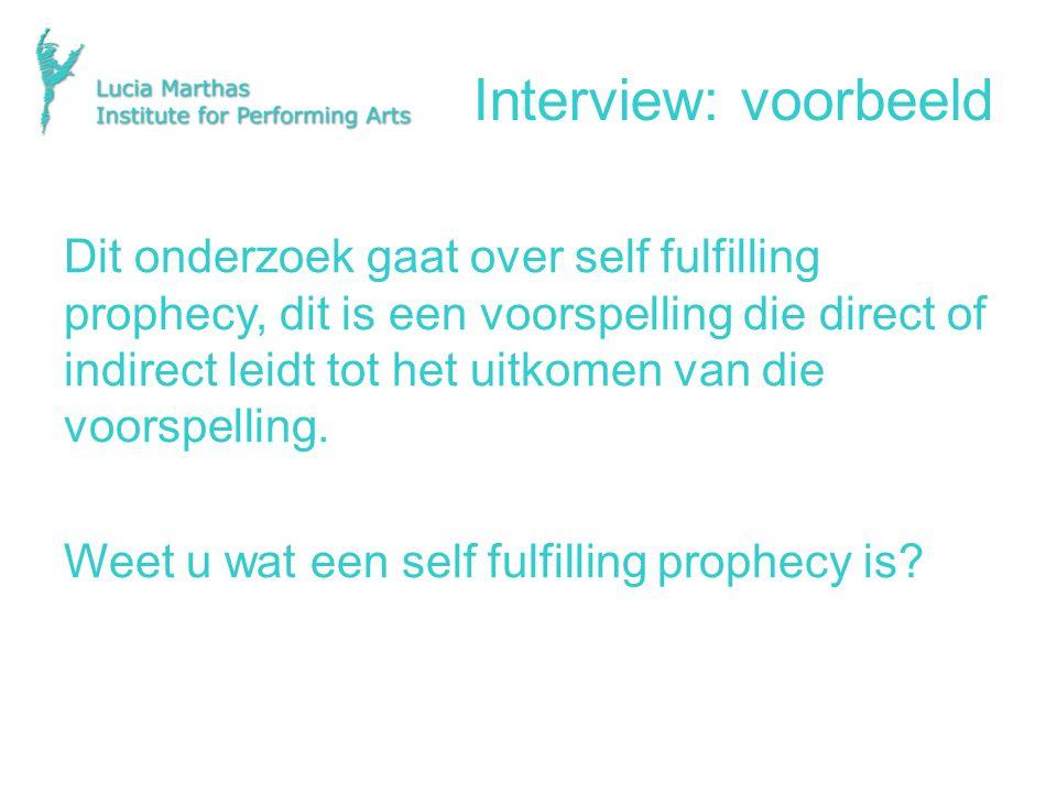 Interview: voorbeeld