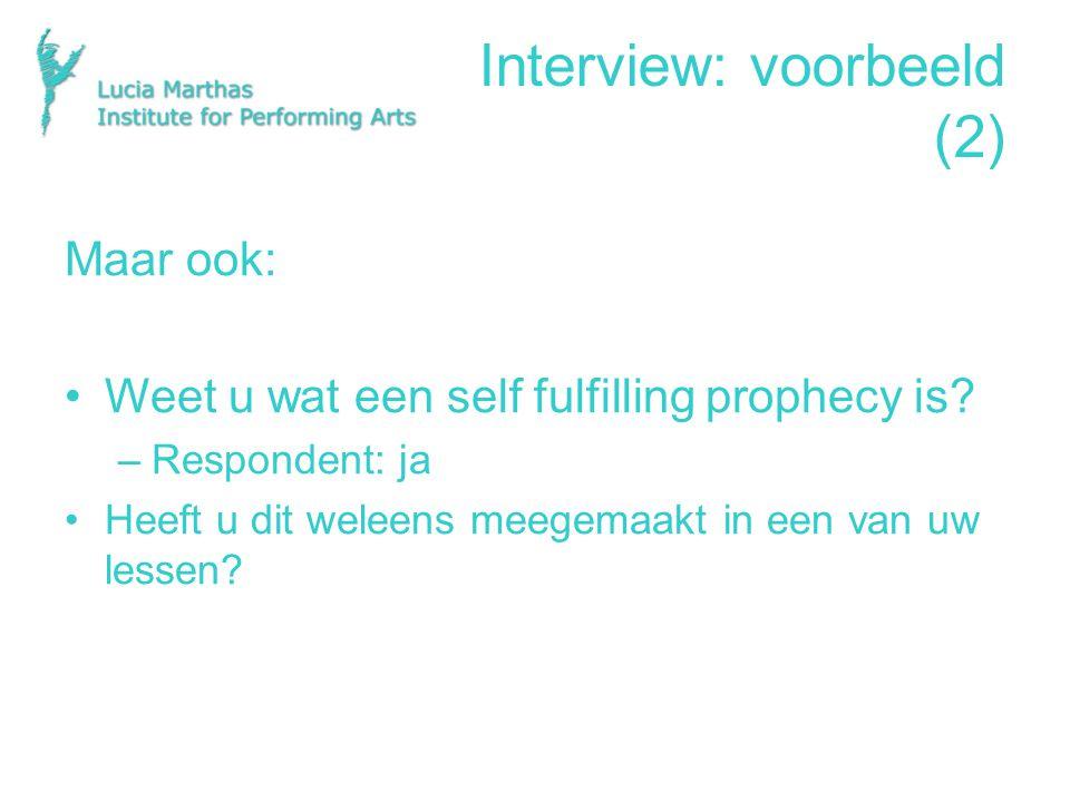 Interview: voorbeeld (2)