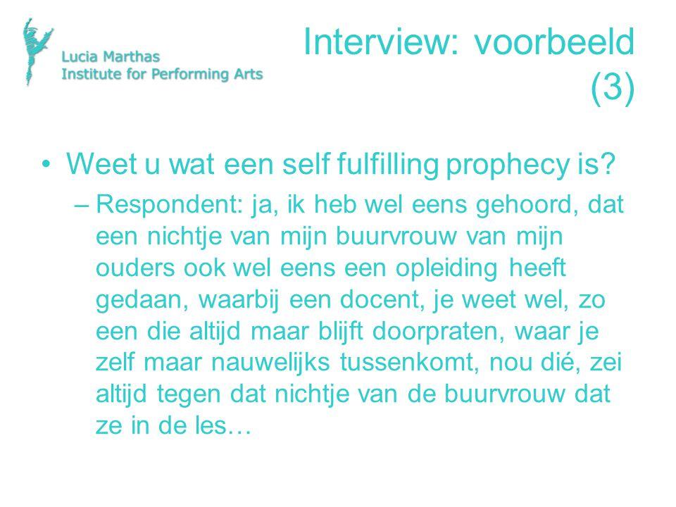 Interview: voorbeeld (3)