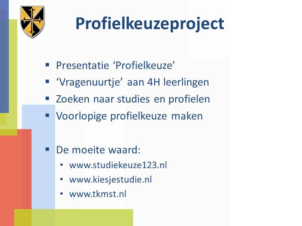 Profielkeuzeproject Presentatie 'Profielkeuze'