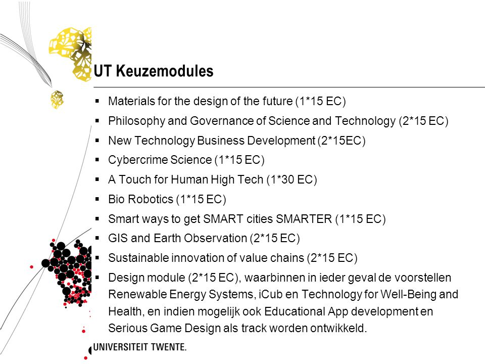 UT Keuzemodules Materials for the design of the future (1*15 EC)