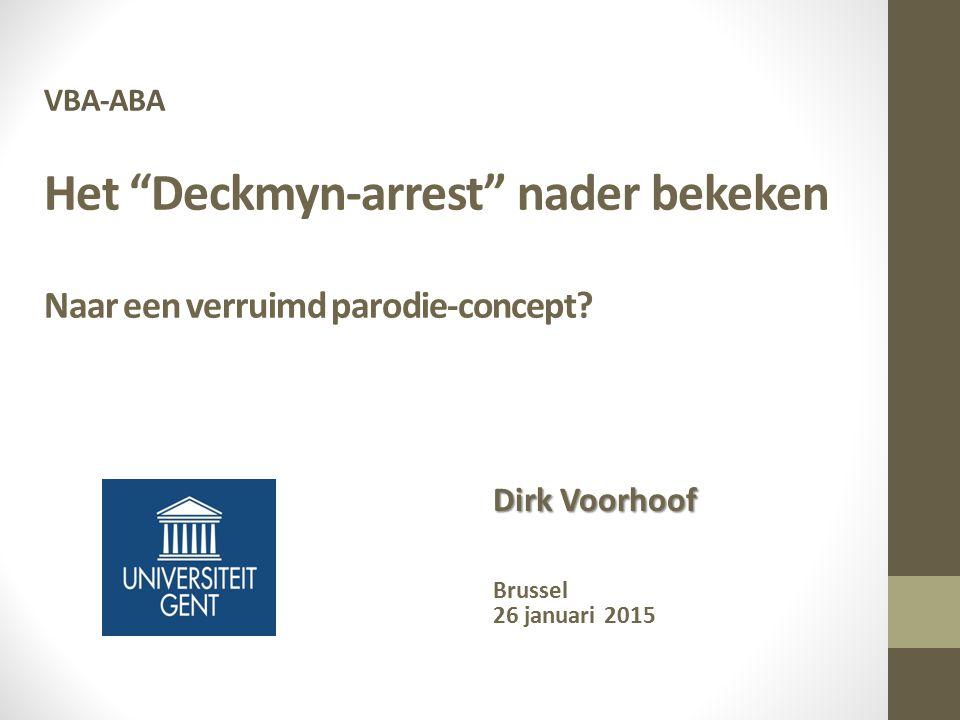 Dirk Voorhoof Brussel 26 januari 2015