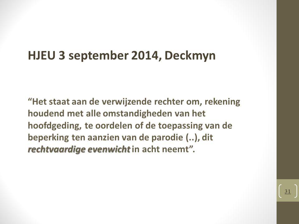 HJEU 3 september 2014, Deckmyn