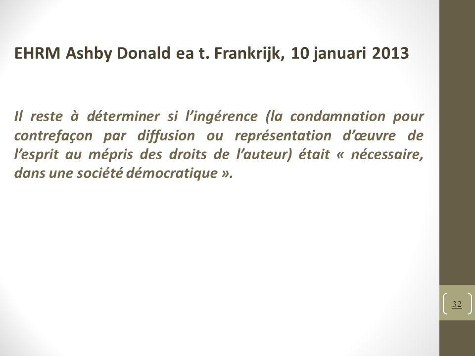 EHRM Ashby Donald ea t. Frankrijk, 10 januari 2013