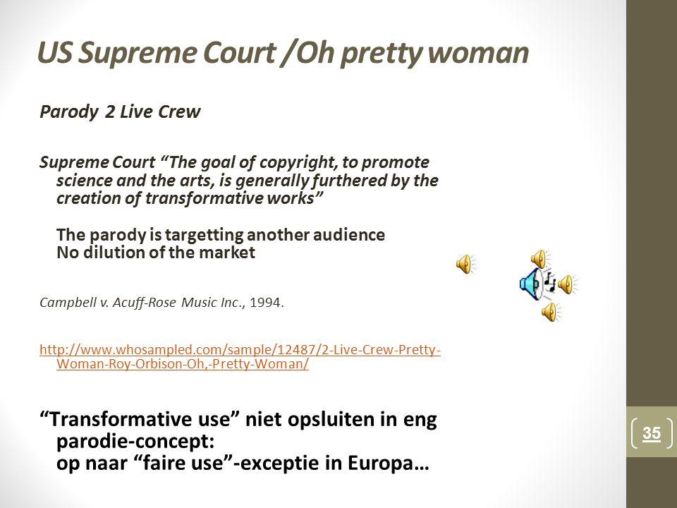 US Supreme Court /Oh pretty woman