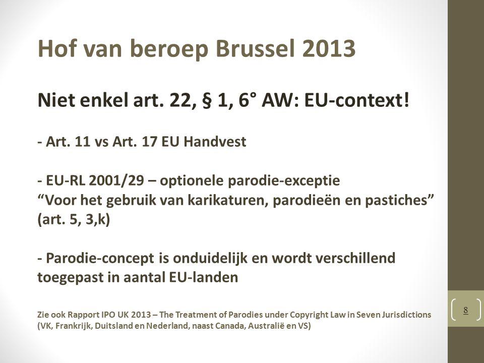 Hof van beroep Brussel 2013