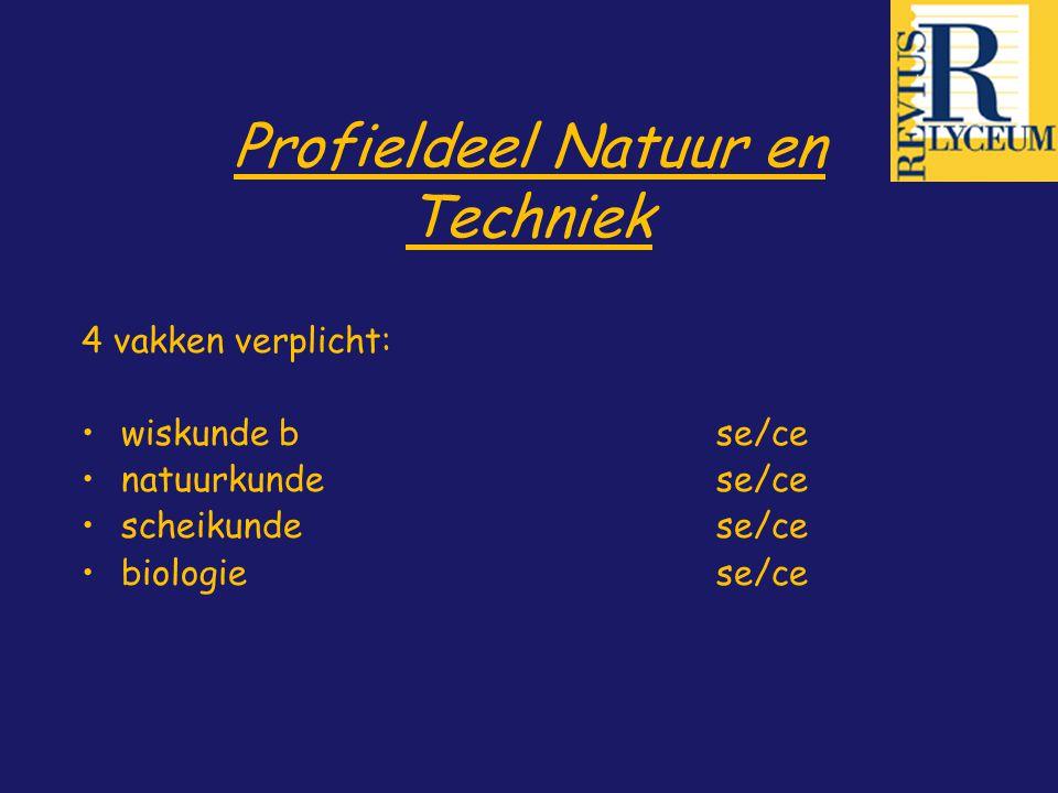 Profieldeel Natuur en Techniek