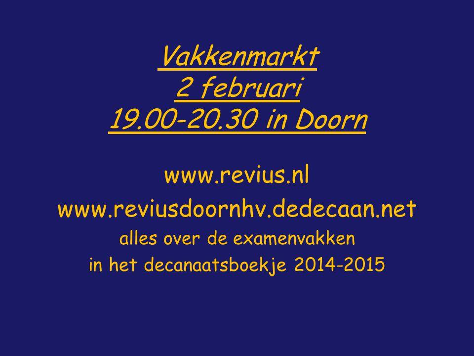 Vakkenmarkt 2 februari 19.00-20.30 in Doorn