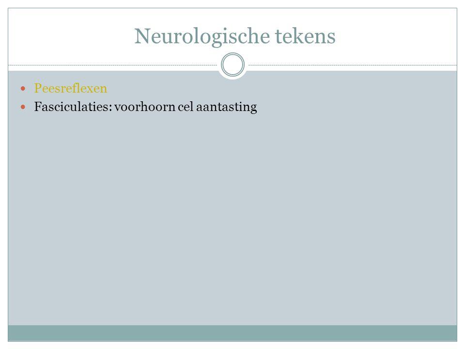 Neurologische tekens Peesreflexen