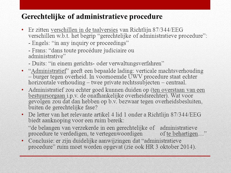 Gerechtelijke of administratieve procedure