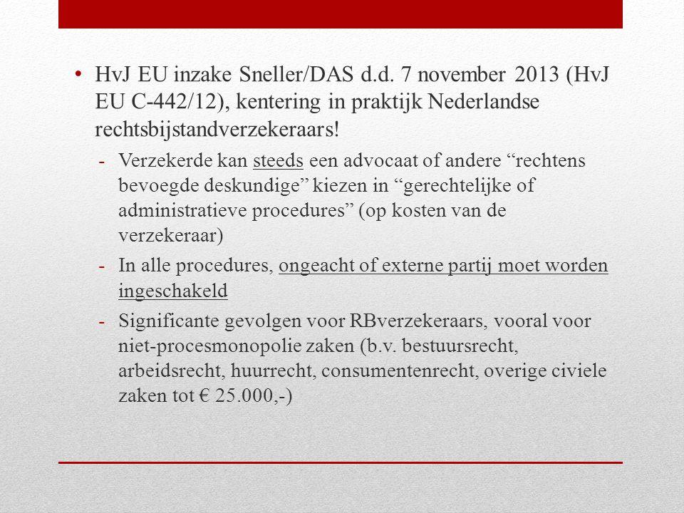 HvJ EU inzake Sneller/DAS d. d