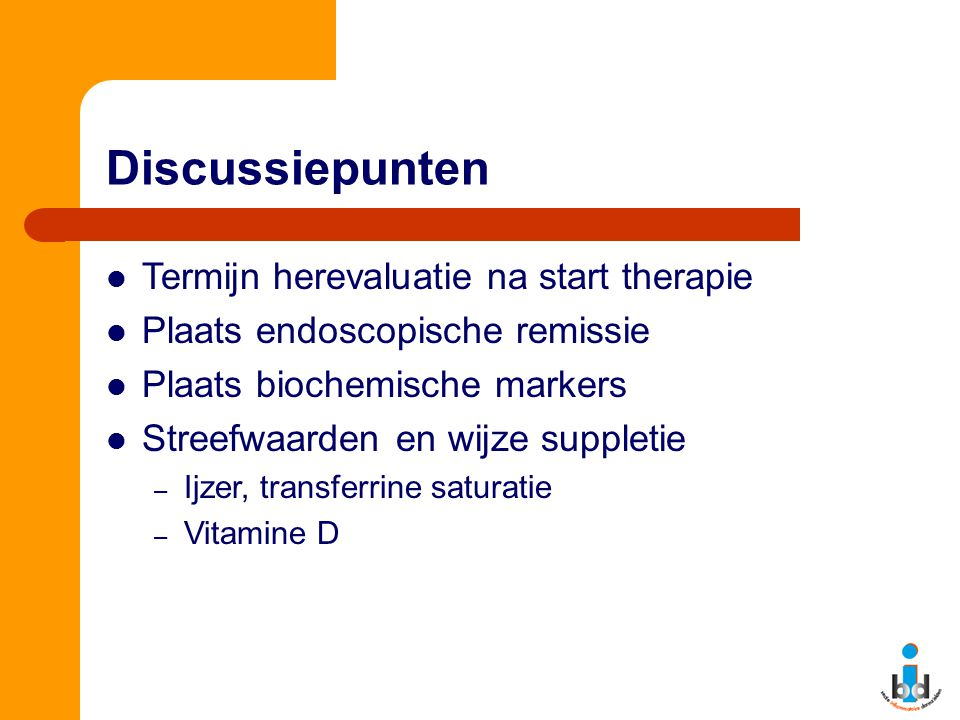 Discussiepunten Termijn herevaluatie na start therapie