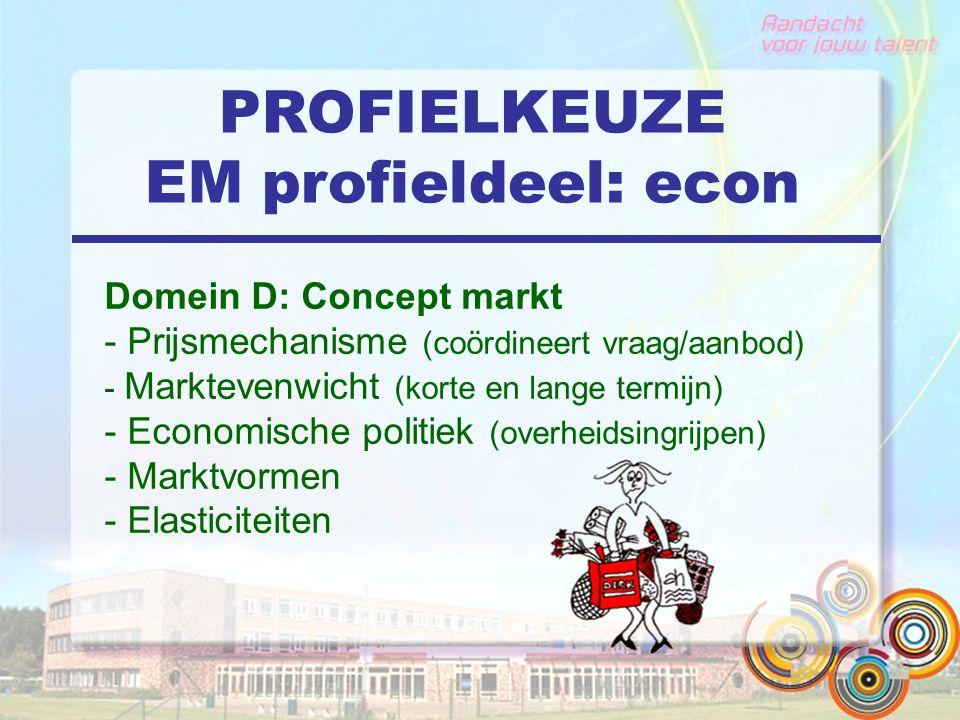 PROFIELKEUZE EM profieldeel: econ