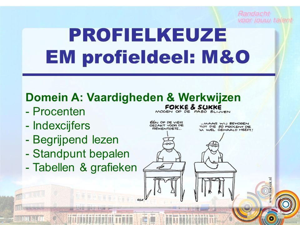 PROFIELKEUZE EM profieldeel: M&O