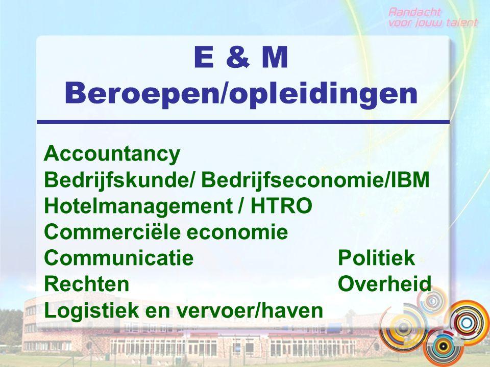E & M Beroepen/opleidingen