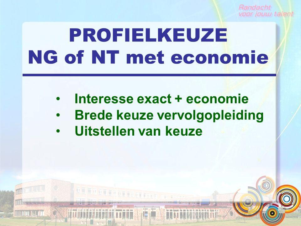 PROFIELKEUZE NG of NT met economie