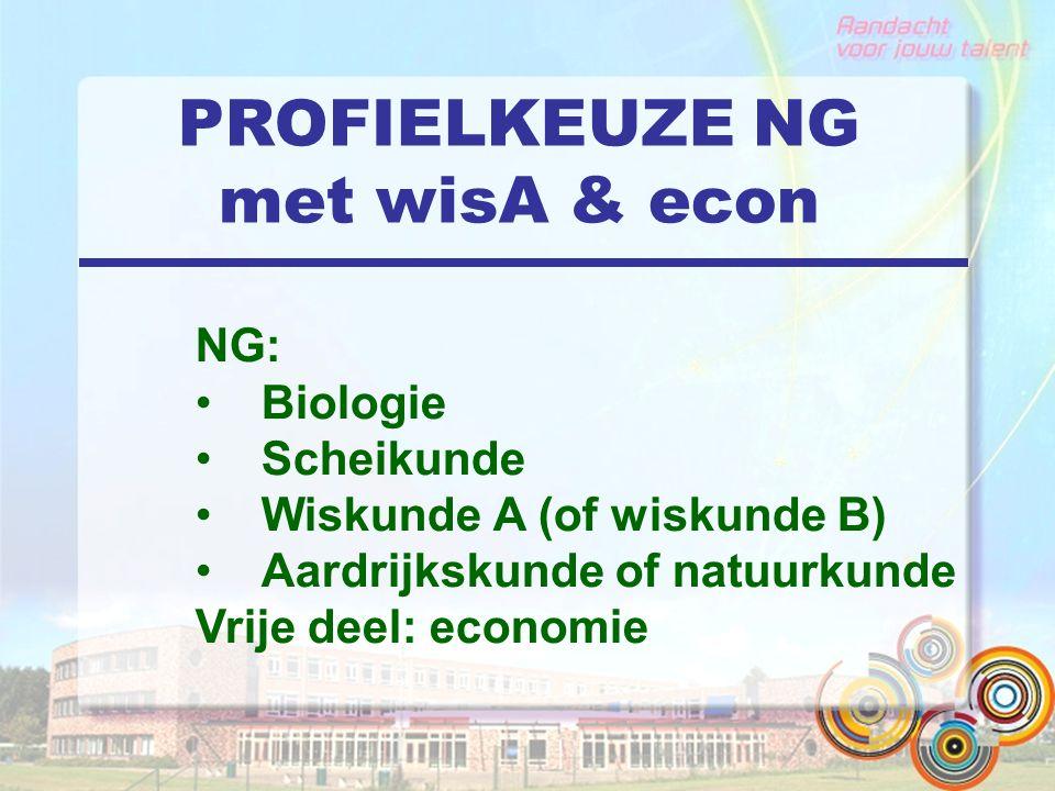 PROFIELKEUZE NG met wisA & econ