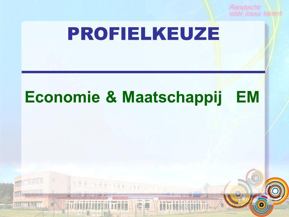 PROFIELKEUZE Economie & Maatschappij EM