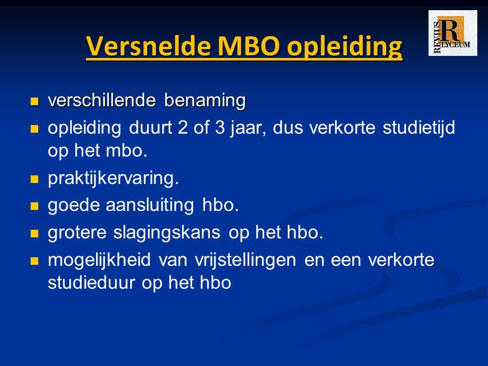 Versnelde MBO opleiding