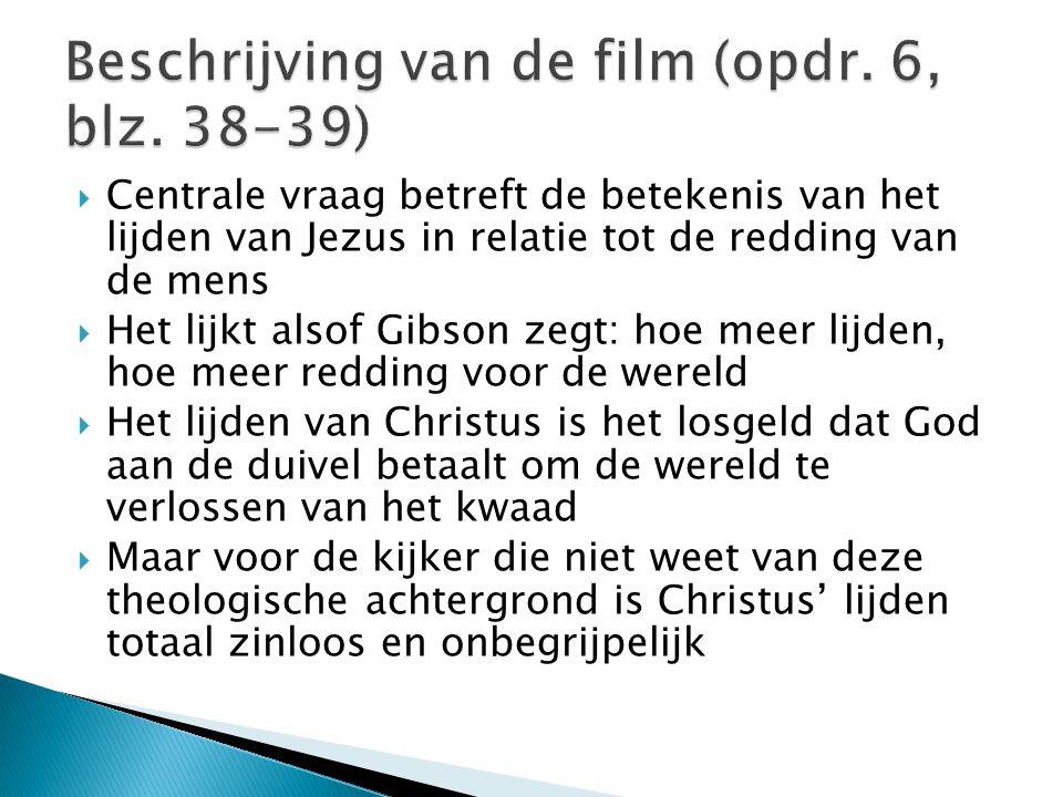 Beschrijving van de film (opdr. 6, blz. 38-39)