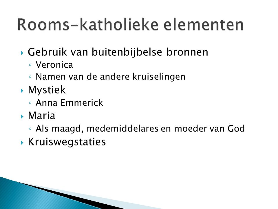 Rooms-katholieke elementen