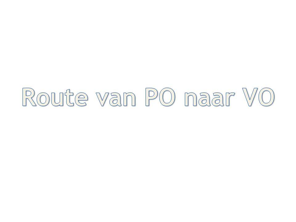 Route van PO naar VO