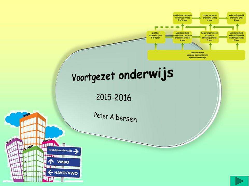 Voortgezet onderwijs 2015-2016 Peter Albersen