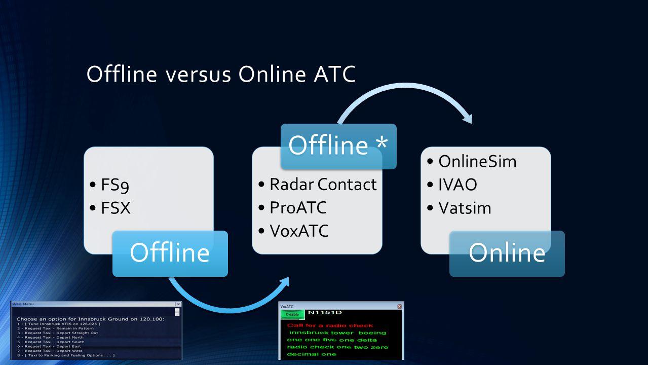 Offline versus Online ATC