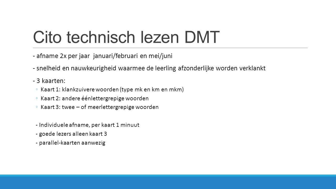 Cito technisch lezen DMT