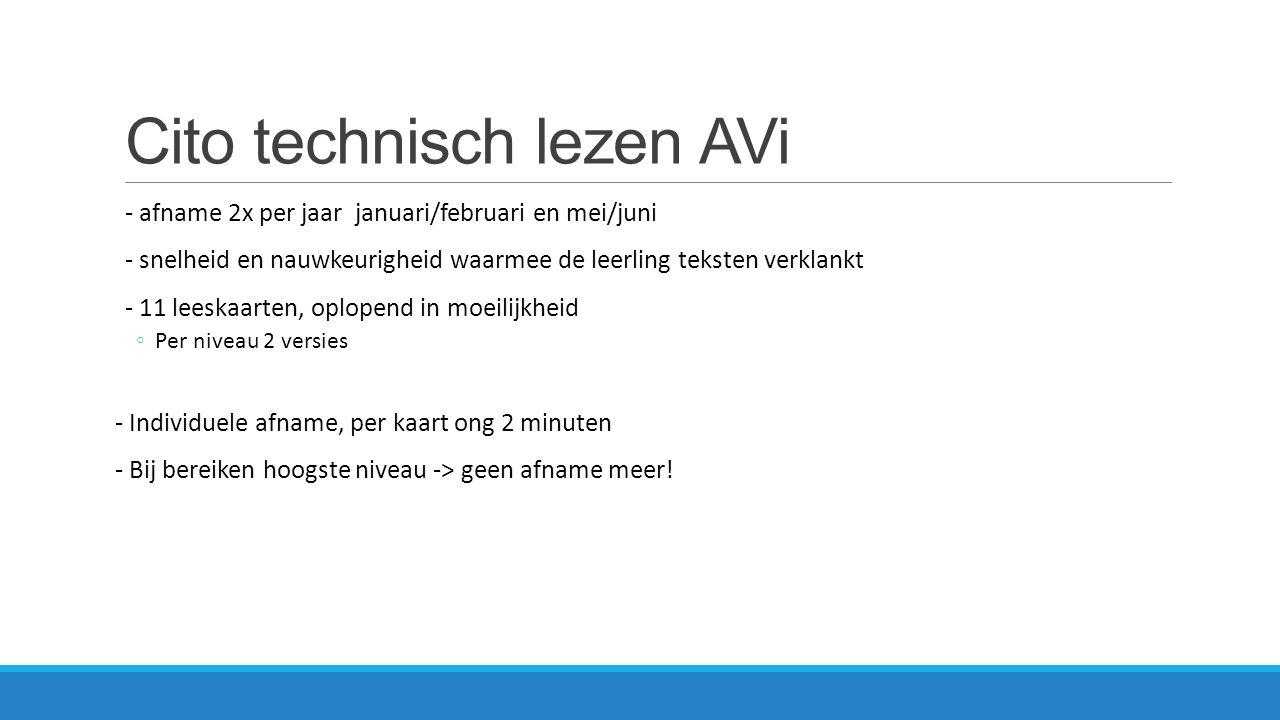 Cito technisch lezen AVi