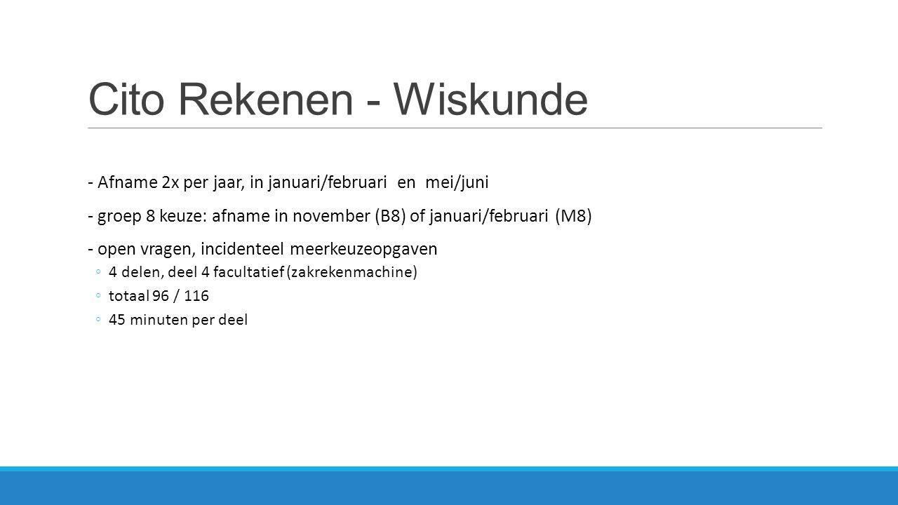 Cito Rekenen - Wiskunde