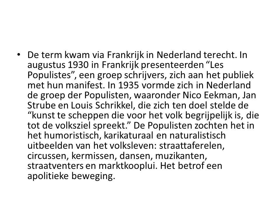 De term kwam via Frankrijk in Nederland terecht