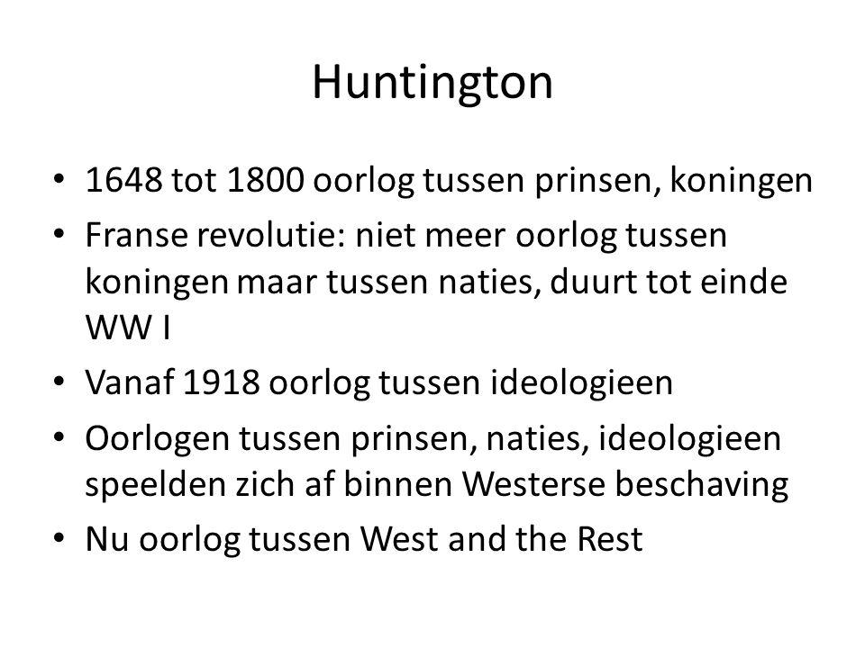 Huntington 1648 tot 1800 oorlog tussen prinsen, koningen