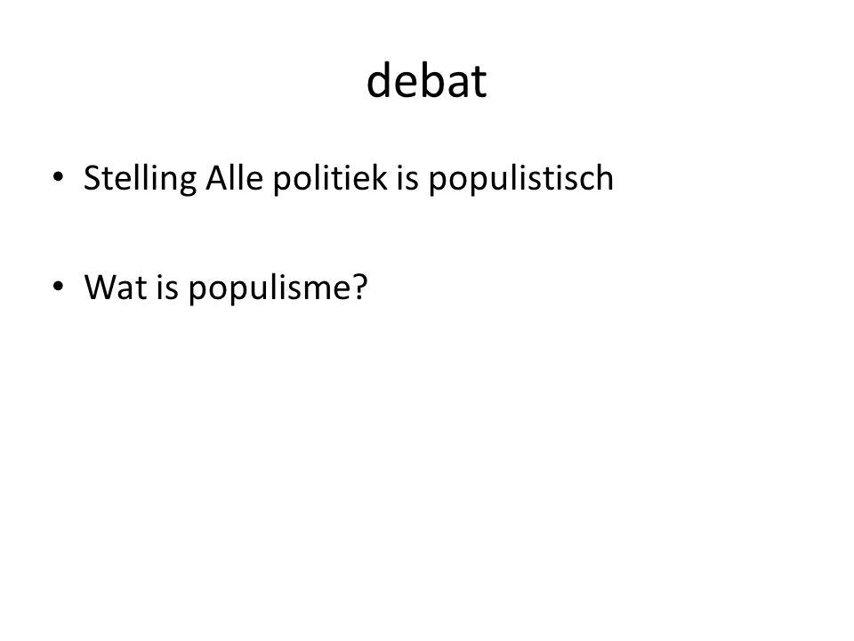 debat Stelling Alle politiek is populistisch Wat is populisme