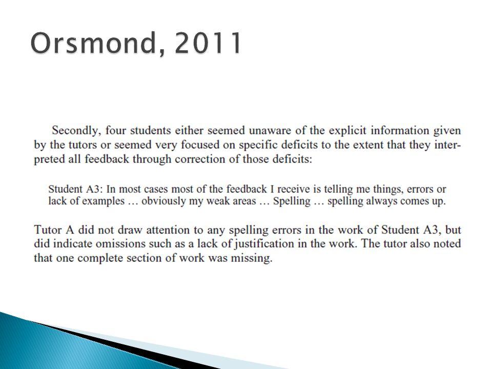 Orsmond, 2011